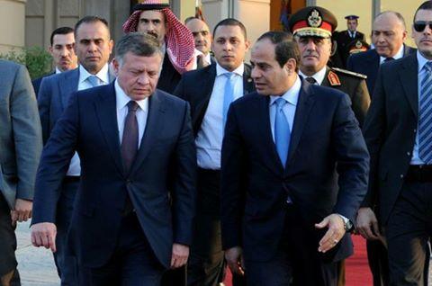 الملك الأردني عبد الله الثاني يزور القاهرة ويلتقي الرئيس المصري عبد الفتاح السيسي