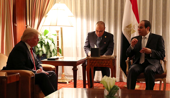 الرئيس عبد الفتاح السيسي دونالد ترامب مصر الولايات المتحدة الامريكية
