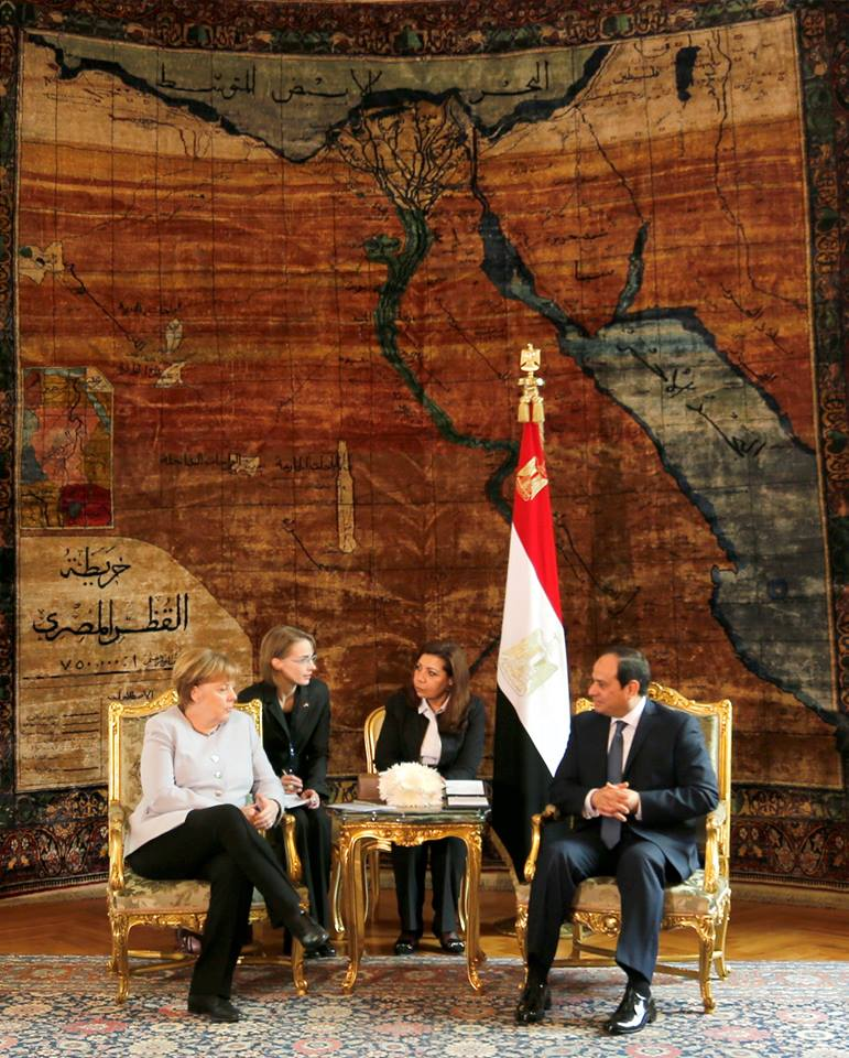الرئيس السيسي يستقبل المستشارة الألمانية أنجيلا ميركل في القاهرة