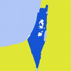 خارطة ضم المناطق في الضفة الغربية وغزة فلسطين الحدود