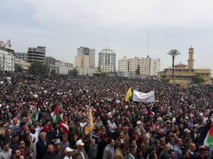 مظاهرات تطالب برحيل محمود عباس