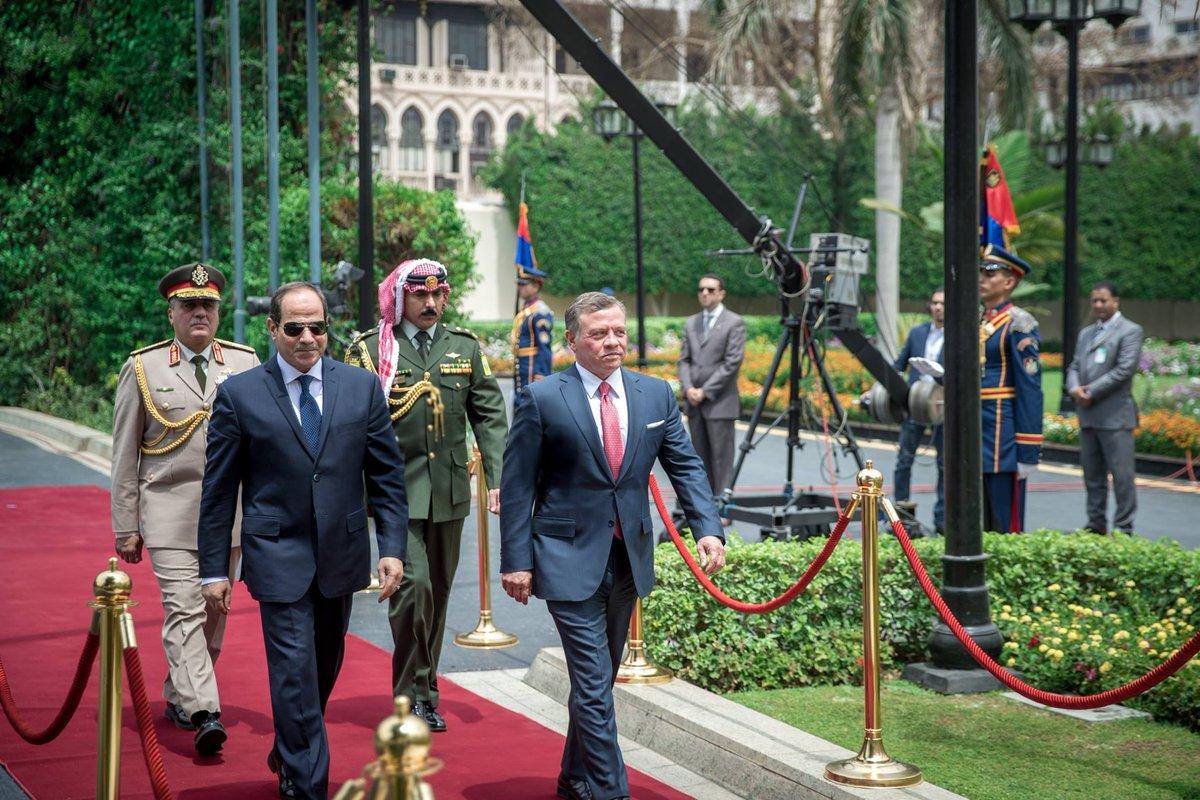 مباحثات هامة بين الرئيس المصري عبد الفتاح السيسي والملك الاردني عبد الله الثاني بن الحسين