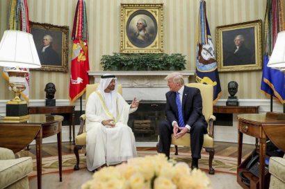 صور وفيديو: ترامب يستقبل محمد بن زايد في البيت الأبيض