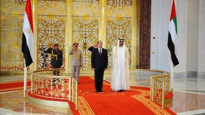 الشيخ محمد بن زايد يستقبل الرئيس المصري عبد الفتاح السيسي في الامارات