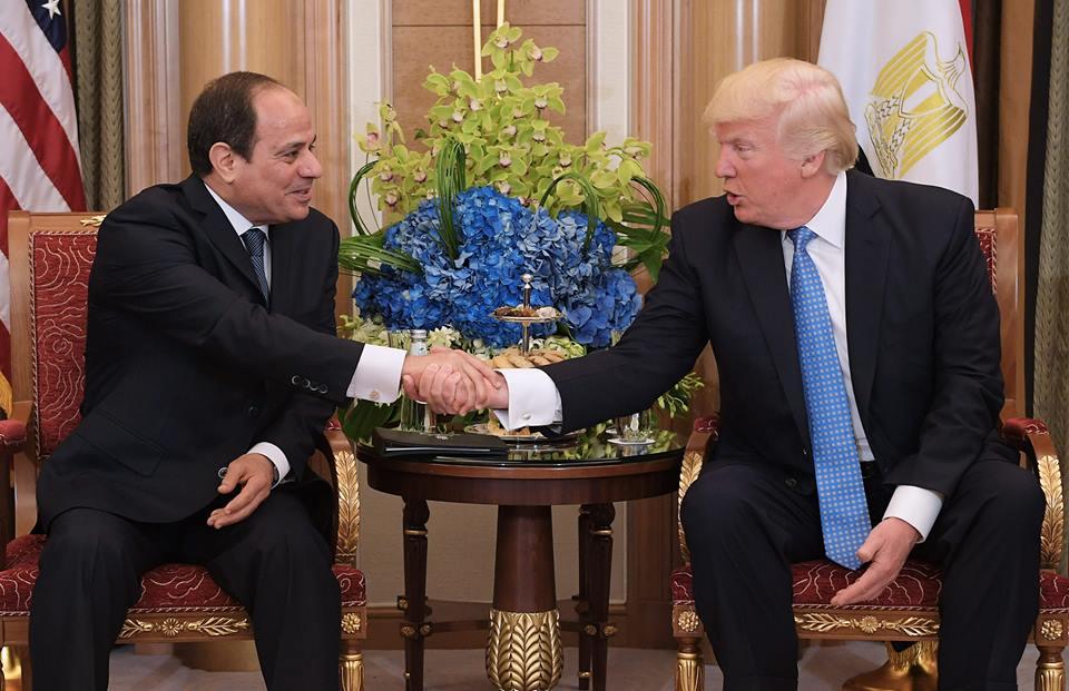 الرئيس السيسي يلتقى ترامب في قمة مصرية - أمريكية بالرياض