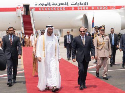 محمد بن زايد والرئيس السيسي